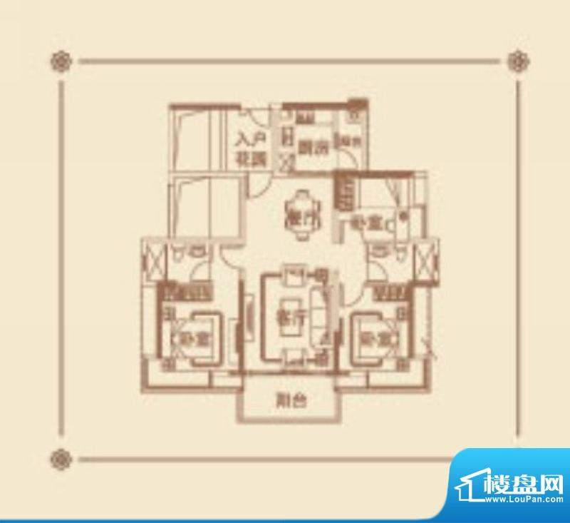 番禺云山诗意A6/A9栋面积:119.00平米