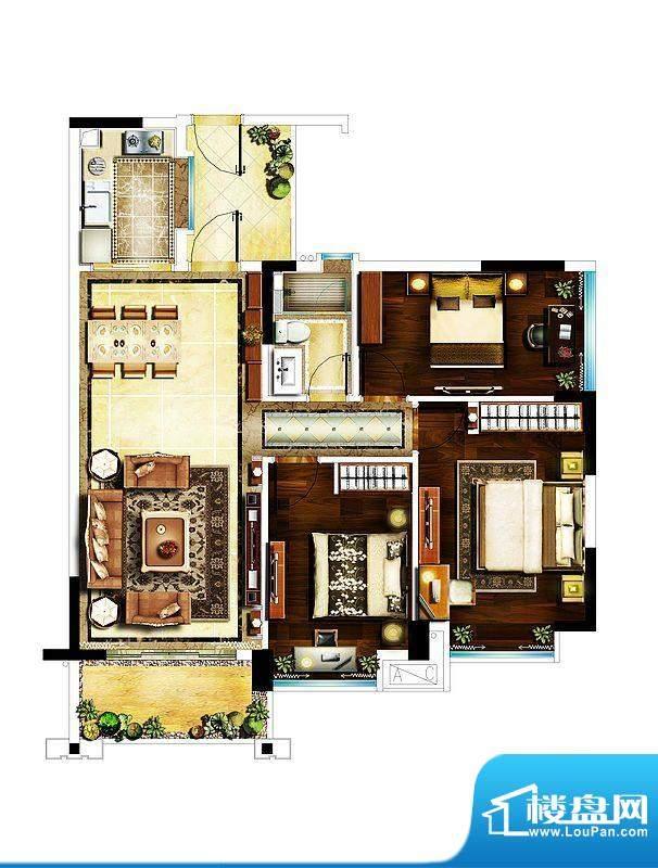 雅居乐城南源著16栋面积:96.91平米
