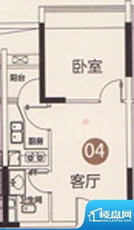 御江南7座公寓04单位面积:41.00平米