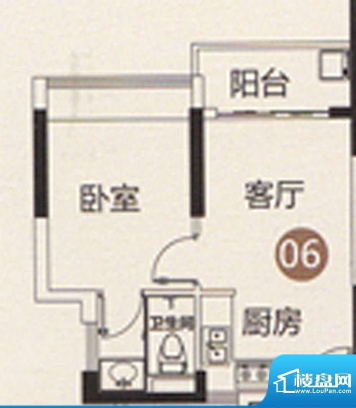 御江南7座公寓06单位面积:43.00平米