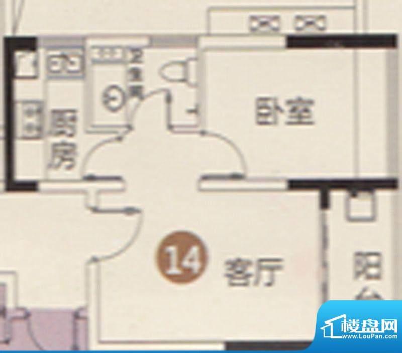 御江南7座公寓14单位面积:45.00平米