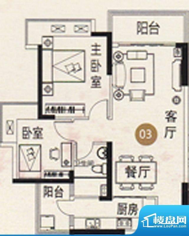 御江南8、11座03单元面积:82.00平米
