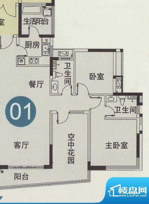庄士映蝶蓝湾二期12面积:98.00平米