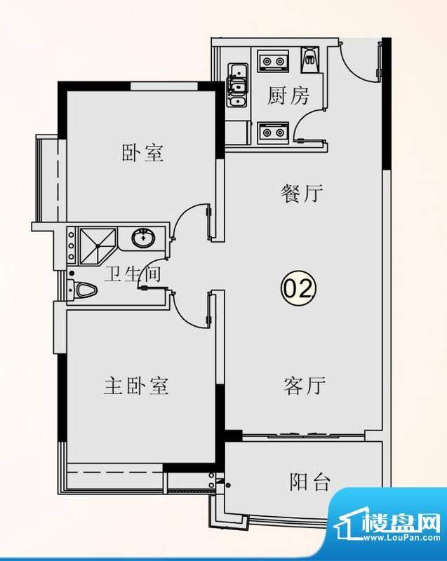 庄士映蝶蓝湾二期F栋面积:81.00平米