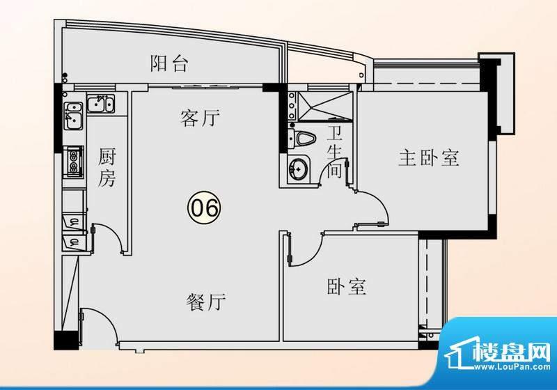 庄士映蝶蓝湾二期F栋面积:78.00平米