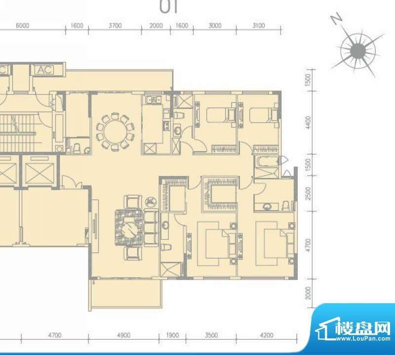 尚轩1034栋01单元 3面积:266.00平米
