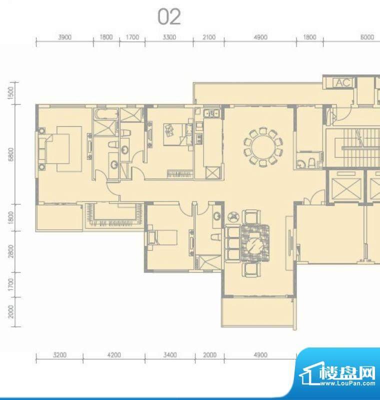 尚轩1034栋02单元 4面积:267.00平米