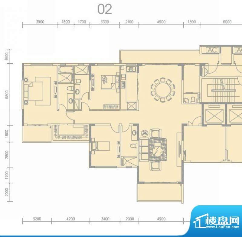 尚轩1033栋02单元 3面积:265.00平米