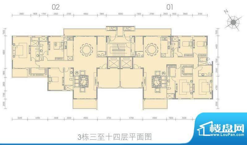 尚轩1033栋标准平层面积:0.00平米