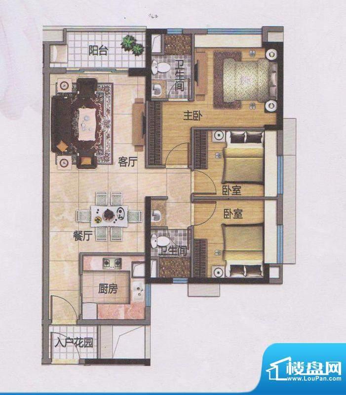 万科东荟城A20栋03/面积:100.00平米