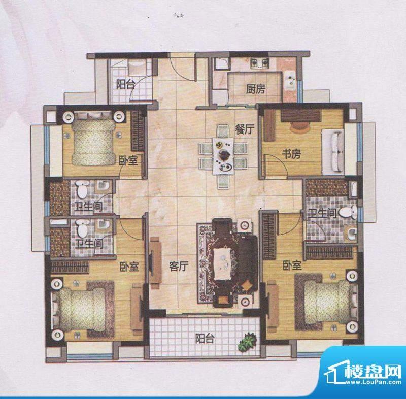 万科东荟城A20栋01户面积:140.00平米