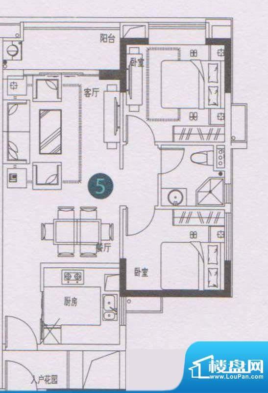 万科东荟城A21/A22栋面积:75.00平米
