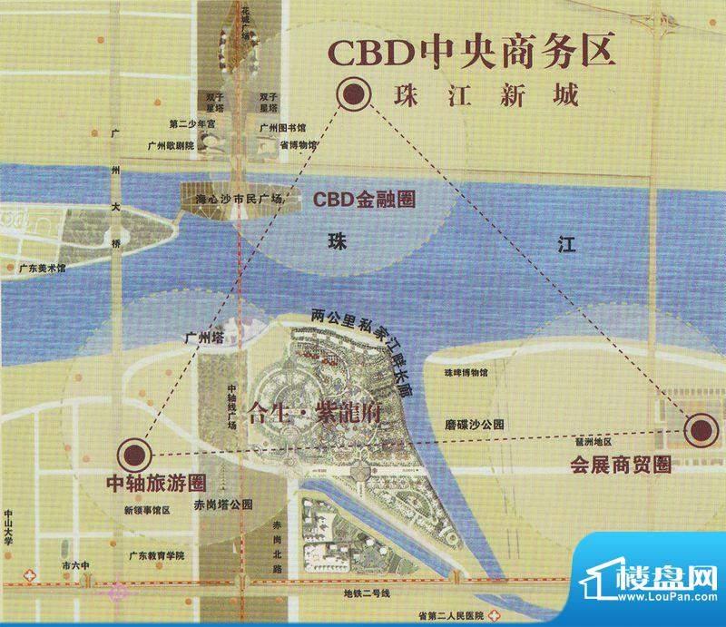 珠江帝景·紫龙府交通图