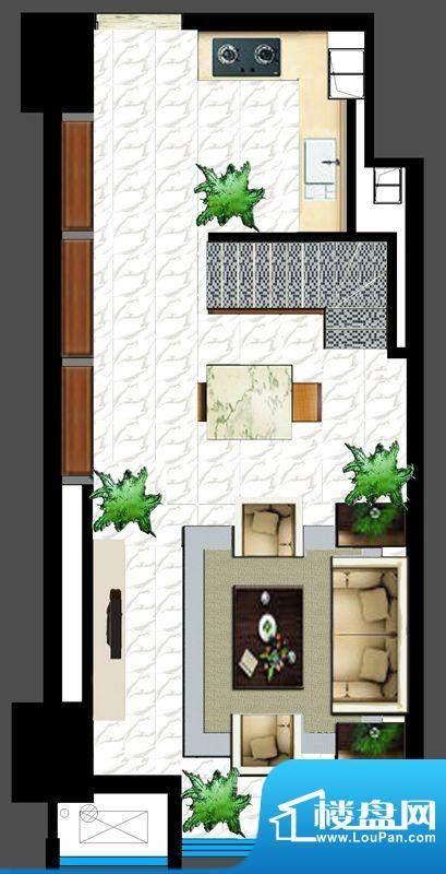 GOHO悦城一期1#楼公面积:49.00平米