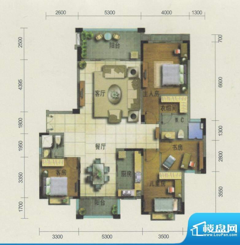 南沙奥园15栋02单位面积:166.00平米
