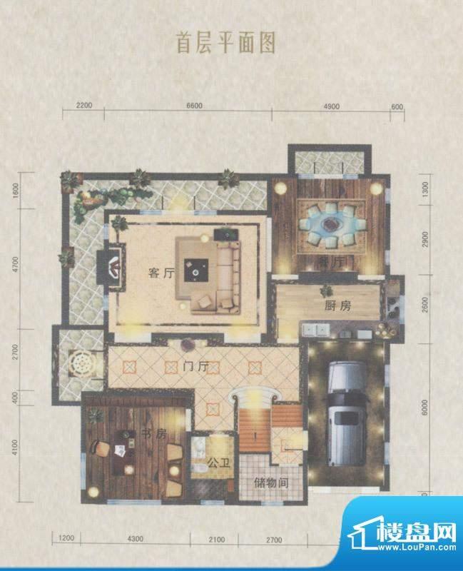 南沙奥园P35户型别墅面积:150.00平米
