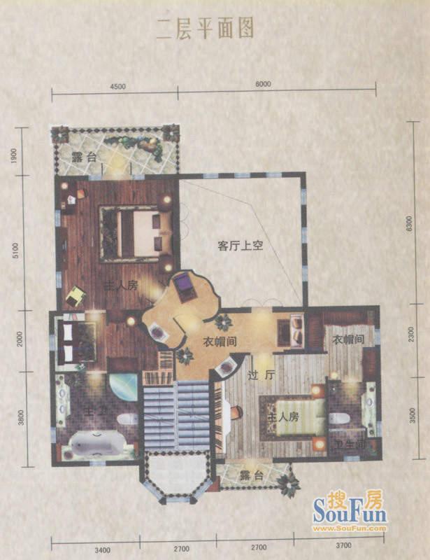 南沙奥园D35户型别墅面积:130.00平米