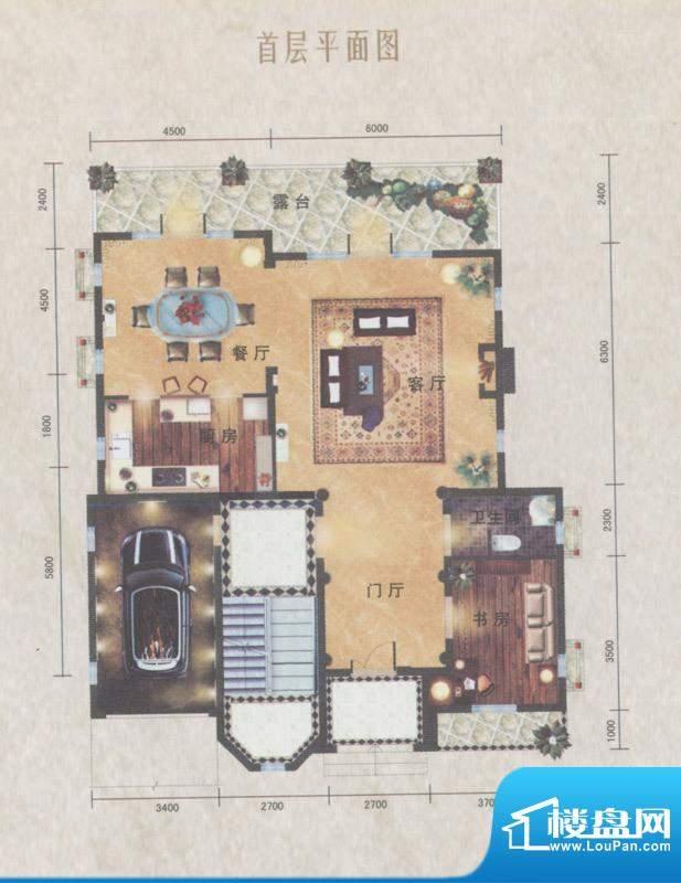 南沙奥园D35户型别墅面积:150.00平米