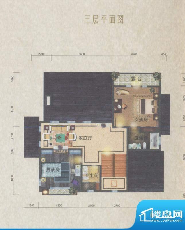 南沙奥园P35户型别墅面积:118.00平米