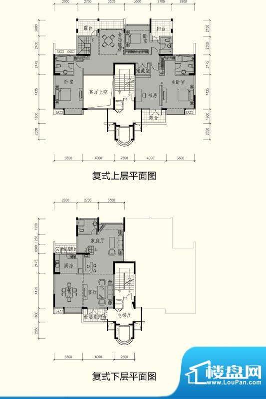 御峰园C户型 4室3厅面积:262.00平米