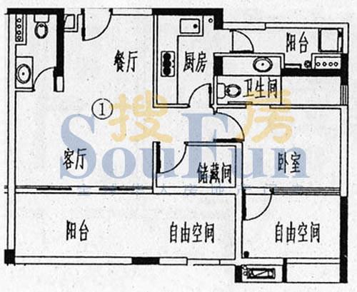 骏御华庭A栋(12-15面积:120.00平米