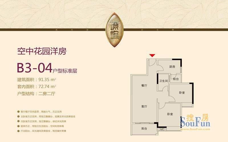 大城云山B3-04户型 面积:0.00平米