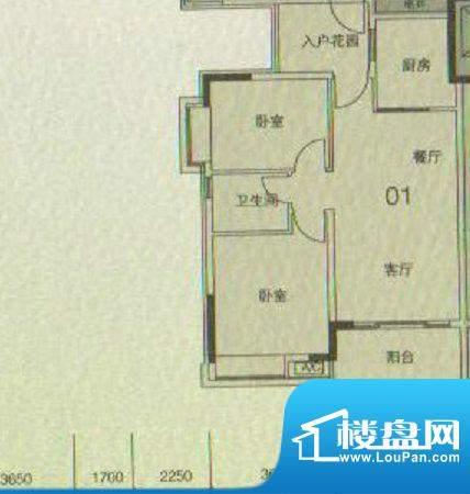 大城云山A2/A4栋01户面积:82.00平米