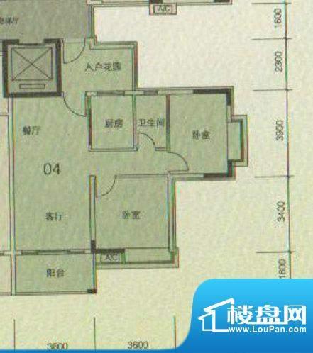 大城云山A2/A4栋04户面积:83.00平米