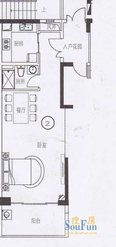 东湖映月二期E1栋02面积:62.23平米