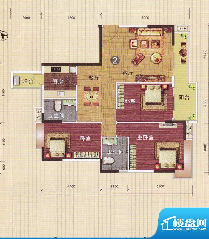 摩登华雅轩1-2号楼0面积:138.68平米
