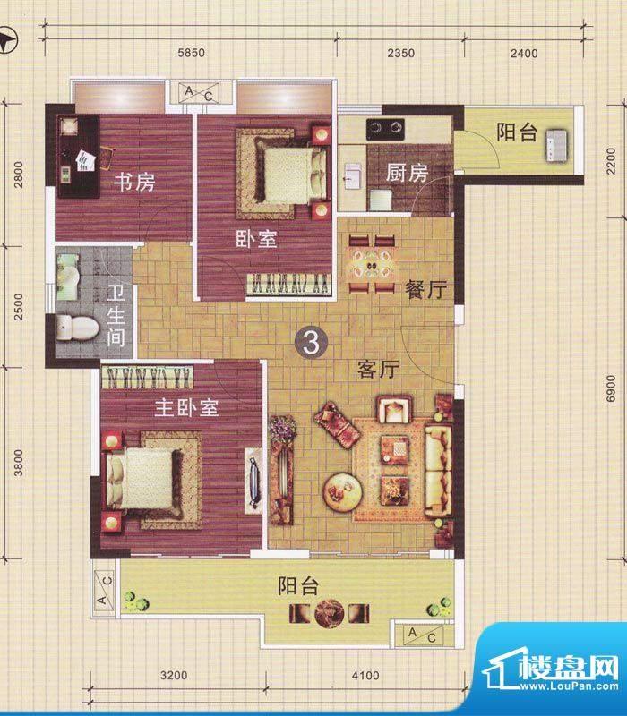 摩登华雅轩1-2号楼0面积:96.06平米