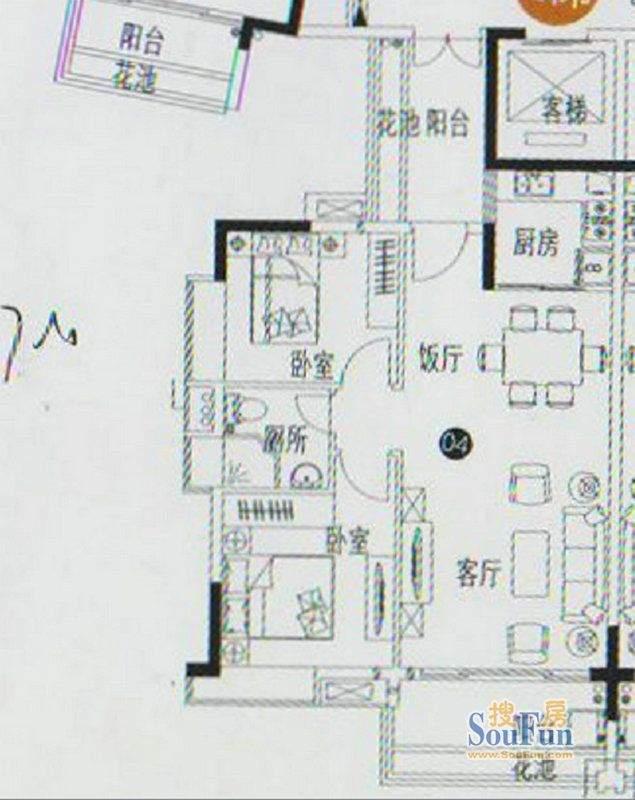 人盛巴厘天地12号楼面积:81.54平米
