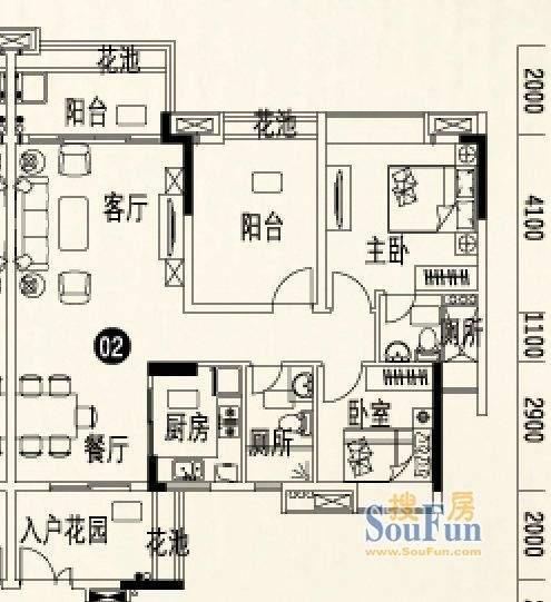 人盛巴厘天地9号楼3面积:101.16平米