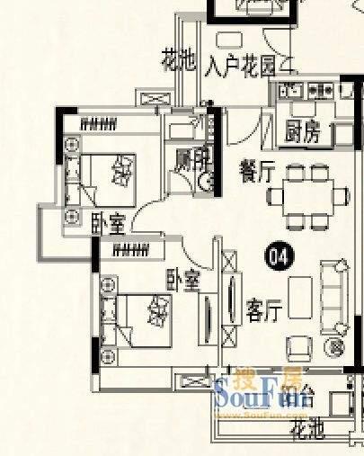 人盛巴厘天地9号楼3面积:80.57平米