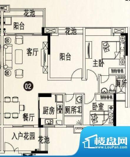 人盛巴厘天地8号楼1面积:101.16平米