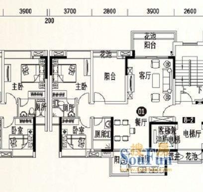 人盛巴厘天地8号楼2面积:98.39平米