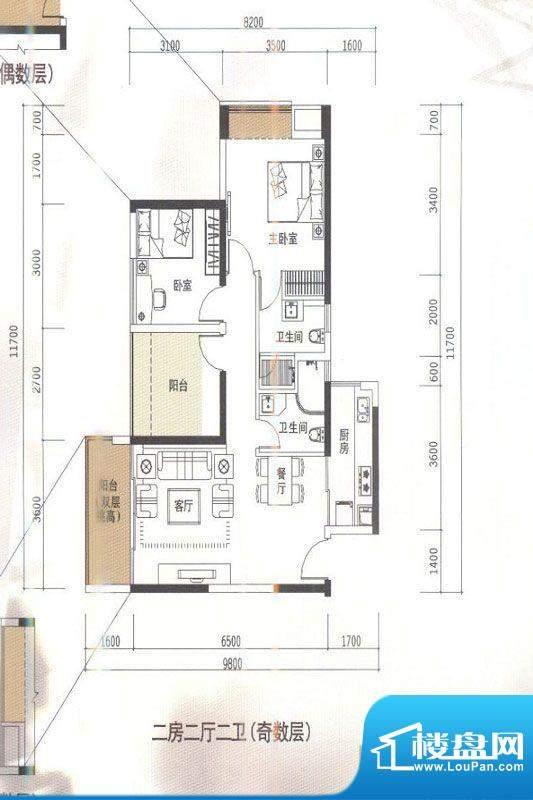 华盛君荟名庭1栋H单面积:0.00平米