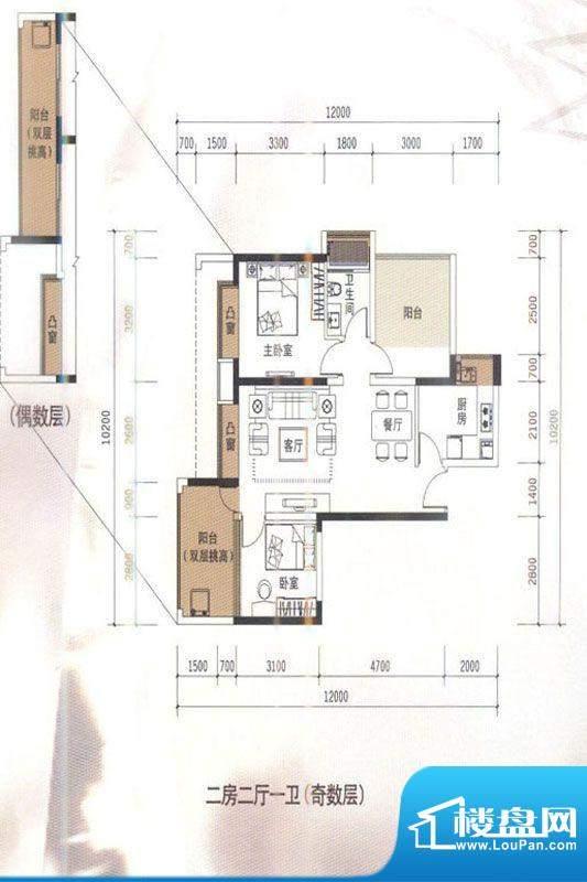 华盛君荟名庭2栋i单面积:0.00平米
