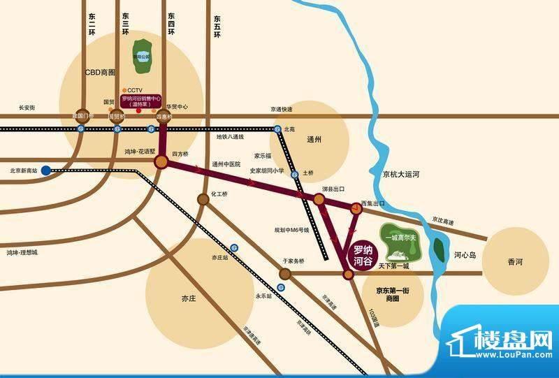 鸿坤·罗纳河谷交通图