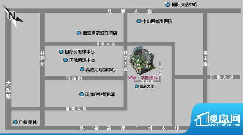 兴普紫园国际交通图