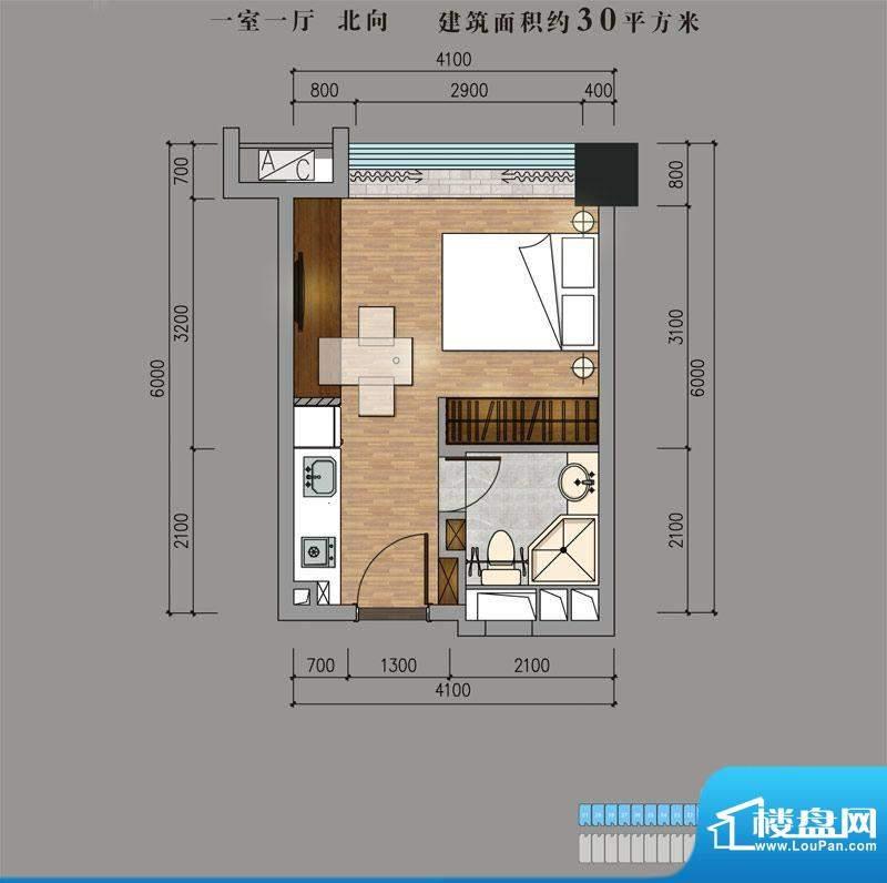 兴普·紫园国际30平面积:30.00平米