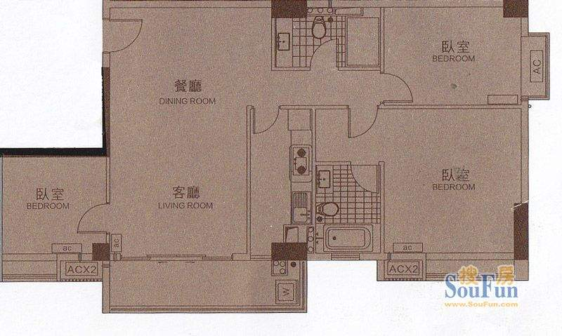 颐和四季CBD酒店B2栋面积:118.34平米