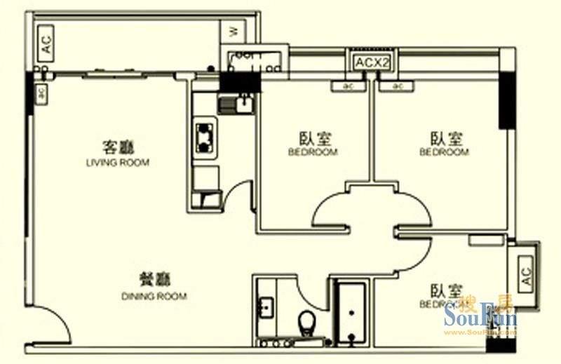 颐和四季CBD酒店101面积:101.00平米