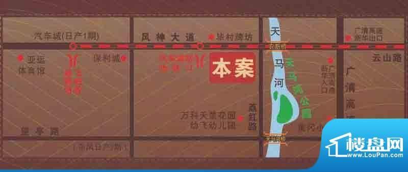 天马河西岸交通图