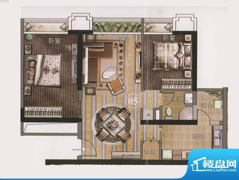 保利天悦公寓05单位面积:92.93平米