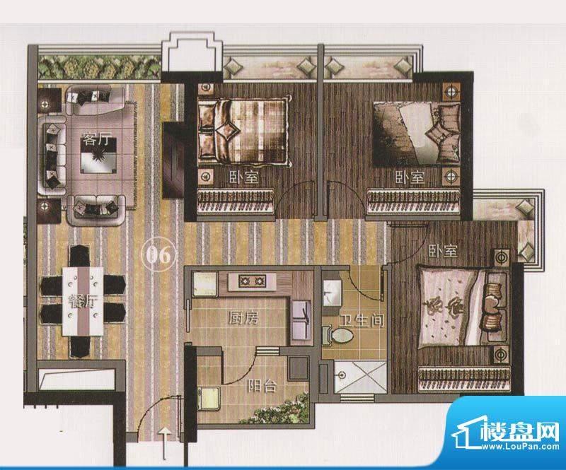 保利天悦公寓06单位面积:101.96平米