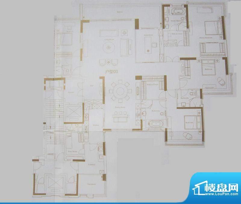 保利天悦2-5栋01户型面积:367.05平米