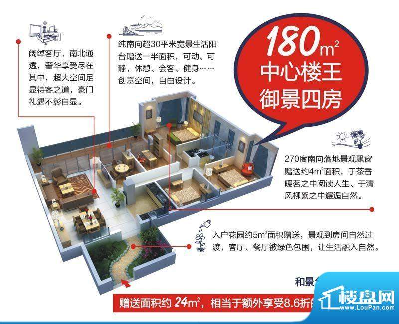 颐和盛世5号楼(和景面积:180.00平米