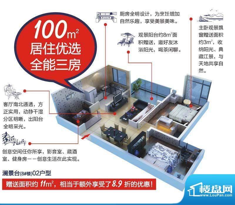 颐和盛世8号楼(澜景面积:100.00平米