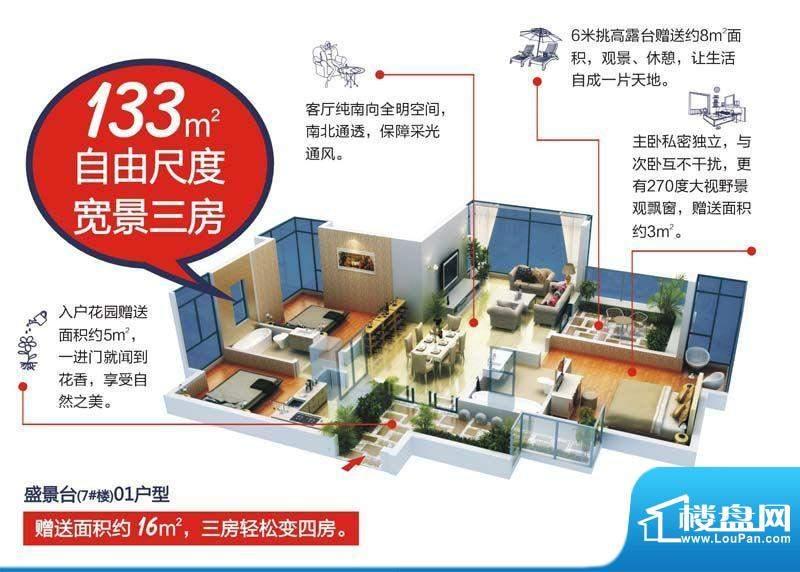 颐和盛世7号楼(盛景面积:133.00平米